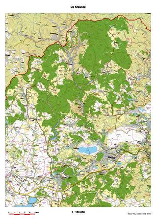 Mapa území lesní správy